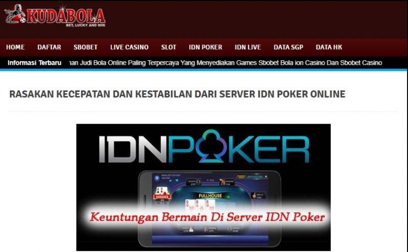 Kudabola Situs IDN Poker Online Terpercaya